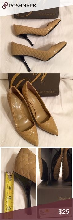 Enzo Angiolini Pumps - Size 11 M Enzo Angiolini Womens Kraz Light Natural Quilted Pumps - Size 11 M.  Wore twice. This is a comfortable shoe. Enzo Angiolini Shoes Heels