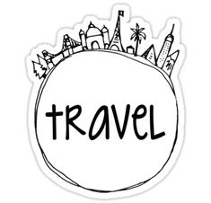 """Travel Globe"" Stickers by emifrohn Tumblr Stickers, Diy Stickers, Printable Stickers, Laptop Stickers, Suitcase Stickers, Tumblr Travel, Black And White Stickers, Red Bubble Stickers, Overlays"