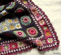 against the sky - contra cielo - : Crochet granny squares throw i. : against the sky – contra cielo – : Crochet granny squares throw inspiration Point Granny Au Crochet, Grannies Crochet, Crochet Motifs, Crochet Squares, Crochet Patterns, Granny Squares, Plaid Au Crochet, Beau Crochet, Crochet Home