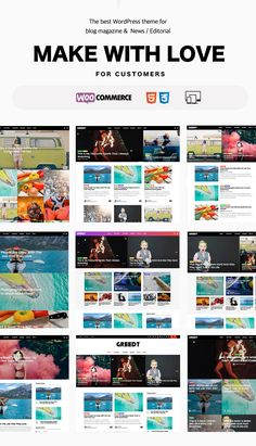 Greedt – WordPress Blog Magazine Theme  is a Premium WordPress Blog Theme that clean design and fully responsive layout. This theme is useful with many homepage style, slider style, theme options...