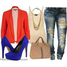"""""""Color Blocking"""" by adoremycurves on Polyvore"""