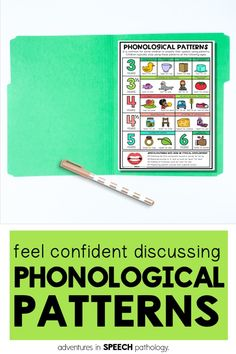 Feel more confident discussing phonological processes and patterns with parents and teacher with this simple chart. Store in a file folder and pull out for IEP meetings, assessment and initial evaluation appointments. Phonological Disorder, Phonological Processes, Iep Meetings, Speech Delay, Speech Pathology, Speech Therapy Activities, File Folder, Therapy Ideas, Speech And Language