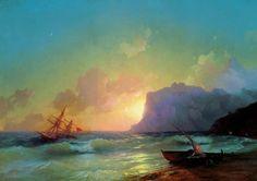 Море. Коктебель 1853 82,5х118. Иван Константинович Айвазовский. Ivan Ayvazovsky.