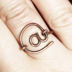 Copper Ring Copper at Symbol Ring Computer by Karismabykarajewelry, $16.00