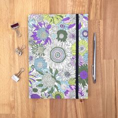 A5 harback journal  Liberty print fabric covered by Hertsdale