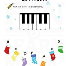 Here's a fun worksheet to review piano key names!