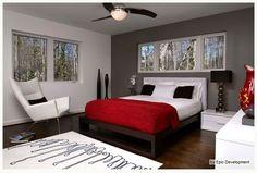 red and grey bedroom - Recherche Google