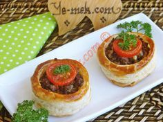 Minced Meat Filled Volovants (Vol au Vents) Recipe | Recipes (From Turkish Cuisine) In English