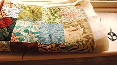 Porcupine Design:  William Morris Quilt Made From A Sample Book