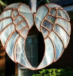 Stained glass angel wings by NaenaeGlass on Etsy
