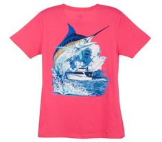 Pink Guy Harvey shirt