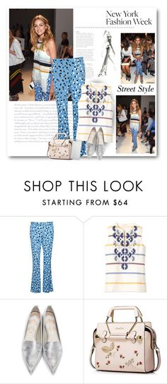 """""""NYFW Street Style: Olivia Palermo"""" by bliznec ❤ liked on Polyvore featuring Altuzarra, Tory Burch, Nicholas Kirkwood and Native Union"""