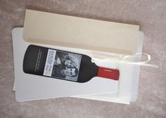 Custom & Personalized Wine Bottle Save the Date Wedding Magnets Can do police theme in Victorian. $1.00, via Etsy.