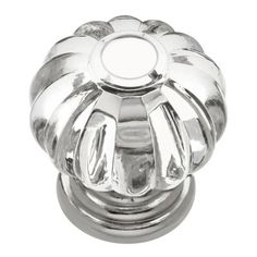 Hickory Hardware HH74687-CA14 Crystal Palace 1.125-in Midway Crysacrylic Bright Nickel Cabinet Knob
