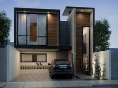 modern railing balcony design for home Minimalist House Design, Minimalist Home, Modern House Design, Villa Design, Facade Design, Exterior Design, Bungalow House Design, House Front Design, Building Design