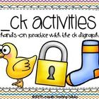 This little packet will help provide hands on and written practice for the ending ck digraph.  Included: Match Game-match the picture card to the w...