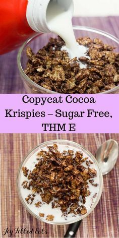 Copycat Cocoa Krispies – Sugar Free, THM E - Yes, these are on plan for THM! You can have your favorite 'sugary' kid's cereal again. via @joyfilledeats