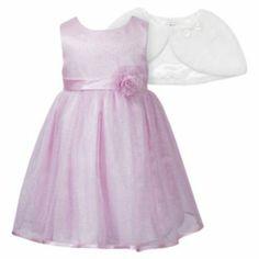 "Youngland+Sparkle+Dress+vbnl,jggfgfddfgbvbnjl!m,n m,"",say.zLL&+Faux-Fur+Capelet+Set+-+Toddler"