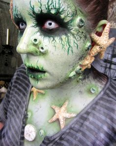 scary mermaid body makeup - Google Search