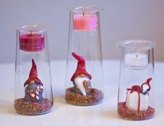 Christmasy Partylite Clearly Creative Symmetry Trio