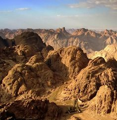 Landscape from Mt. Sinai, Egypt
