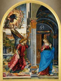 Luca Signorelli, Annunciation, (1491, tempera on canvas, 282 x 205 cm). Pinacoteca e museo civico di Volterra, Pisa, Tuscany, Italy