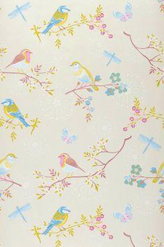 Audrey | Papier peint floral | Motifs du papier peint | Papier peint des années 70