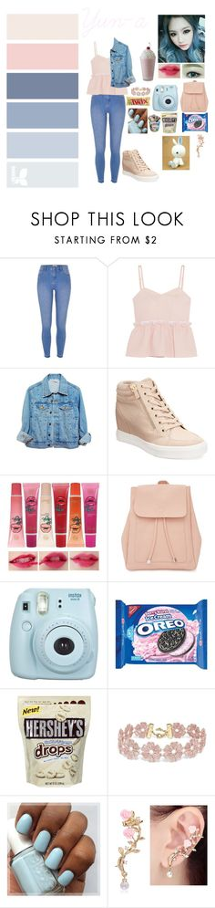 """""""my own Kpop group iCandy OC: Yun-a"""" by silentdoll ❤ liked on Polyvore featuring River Island, Steve J & Yoni P, High Heels Suicide, ALDO, New Look, Fujifilm, Hershey's and BaubleBar"""