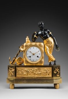 "An Empire clock ""The Sailor"" attributed to Jean-Simon Deverberie 1805-1810"