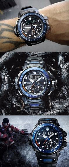 Casio G-Shock GWN-Q1000-1AJF Gulfmaster Tough Solar Movement Multiband 6 Mens Watch