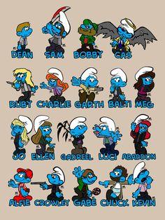 Supernatural Smurfs by Van-helsa124