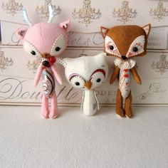I have to have this pattern! Woodland Stufflings by Gingermelon.