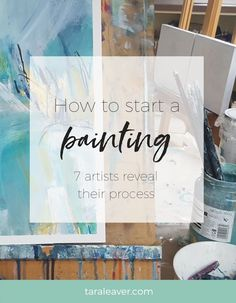 Blank Canvas Syndrome can stop us before we've even started. But there are infinite ways to begin! Seven artists reveal how they start a painting. Painting Courses, Art Courses, Painting Lessons, Art Lessons, Painting & Drawing, Painting Tools, Painting Process, How To Start Painting, Beginner Painting