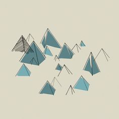 triangles mountains are fun. Illustration by The Visual Republic