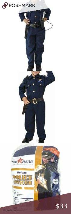 Kids Police Badge Hat Playtime Costume Accessory Child Halloween Birthday Party