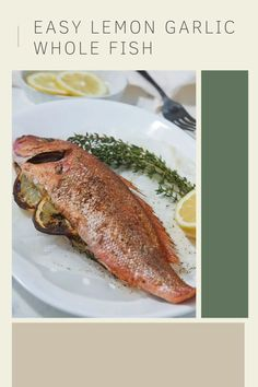 If you love the upscale feeling of cooking and eating a whole fish, then you'll love this recipe! This whole fish recipe results in super crispy skin and flavorful meat from the lemon & garlic. It's a super easy recipe since it's made in the air fryer in under 30 minutes! Whole Trout Recipes, Easy Fish Recipes, Quick Recipes, Easy Meals, Instant Pot Pressure Cooker, Pressure Cooker Recipes, Southern Recipes, Air Fryer Recipes, Us Foods