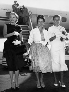 1955 - Elizabeth Taylor, Grace Kelly, and Lorraine Day