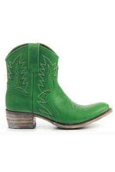 Sendra Booties 10163 green - Vimodos