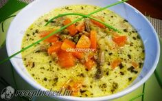 Érdekel a receptje? Kattints a képre! Fruits And Vegetables, Thai Red Curry, Dishes, Cooking, Ethnic Recipes, Chowders, Soups, Kitchen, Fruits And Veggies