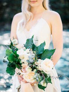 Tranquil & Organic Riverside Forest Bridal Portraits