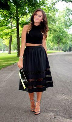 Best Style Tips to Wear Full Skirt - DesignerzCentral