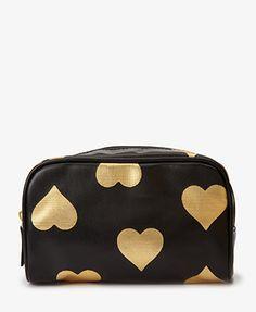Metallic Heart Cosmetic Bag $5.80