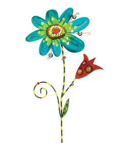 Blue & Red Garden Stake #zulily #zulilyfinds