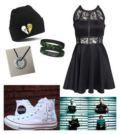 """Untitled #188"" by bella-boo2020 ❤ liked on Polyvore featuring AX Paris and Converse"