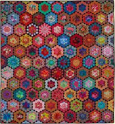 Glorious Color - Largest selection of Kaffe Fassett quilt fabric, quilt kits, and books by Kaffe Fassett and Liza Prior Lucy. Fabric by Kaffe Fassett, Philip Jacobs, Brandon Mably. Applique patterns by Kim McLean. Hand Applique, Applique Patterns, Quilt Patterns, Quilting Ideas, Hexagon Quilting, Crazy Quilting, Patchwork Patterns, Quilting Fabric, Hand Embroidery