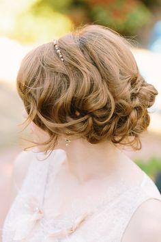 #hairstyles  Photography: U Me Us Studios - www.umeusstudios.com  Read More: http://www.stylemepretty.com/little-black-book-blog/2014/07/18/romantic-vintage-garden-wedding-inspiration/