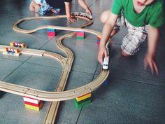 DUPLO LEGO BRIO Wooden Train Track Adapters 3 Set by WoodpeckersCH