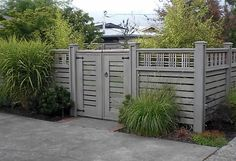 Lattice Top Fence Gates and Fencing Devonshire Landscapes Seattle, WA