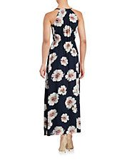 Poppy Print Blouson Maxi Dress