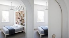 Architect Eva-Marie Prineas excavated under an Newtown terrace in order to connect the living areas to the back garden. Australian Interior Design, Interior Design Awards, Newtown House, Home Bedroom, Bedroom Interiors, Bedrooms, Victorian Terrace, House Extensions, Living Area